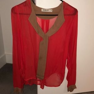 Sheer Anthropologie Blouse